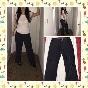 Dark gray warm fuzzy wide pants by SO stretch Sz L